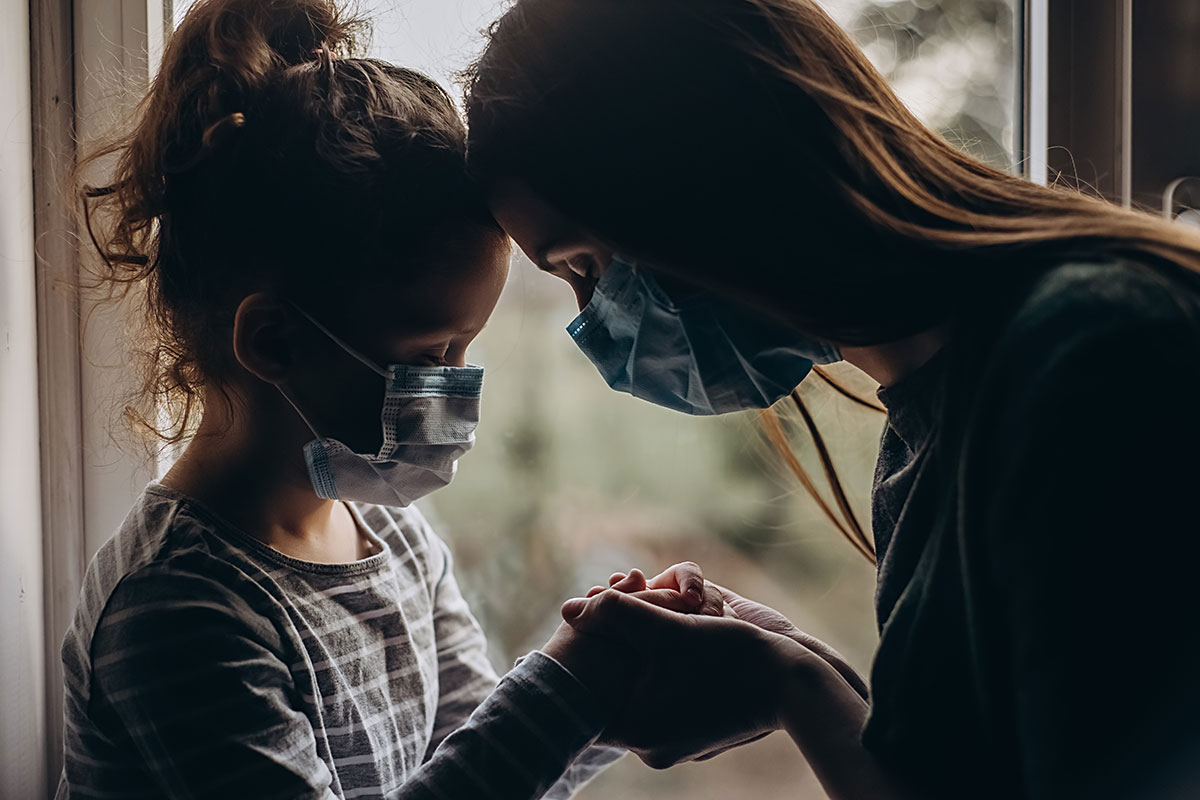 Paediatric multisystem inflammatory syndrome temporally associated with Coronavirus Disease 2019 (COVID-19); Statement and Recommendations from a Pediatric Intensive Care COVID-19 International Collaborative Conference Call; COVID-19 Mother Daughter Masks; Conceptual Image