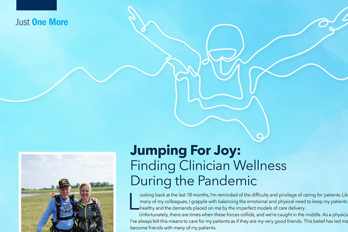 Just One More | Jumping For Joy: Finding Clinician Wellness in the Pandemic