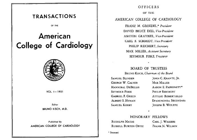 Transactions of the American College of Cardiology