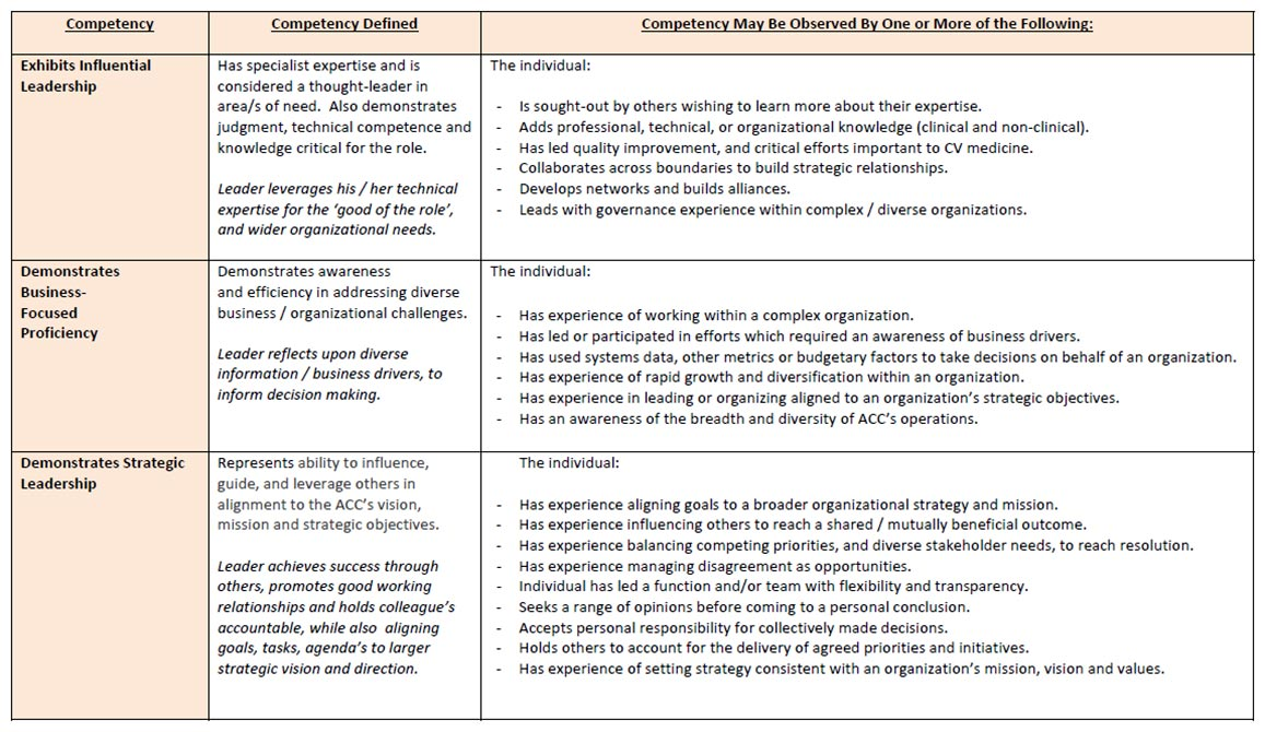 Graphic: Competencies Definitions and Examples
