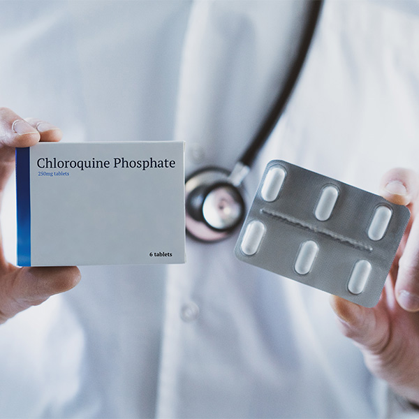 Hydroxychloroquine Pill Pack; Conceptual Image