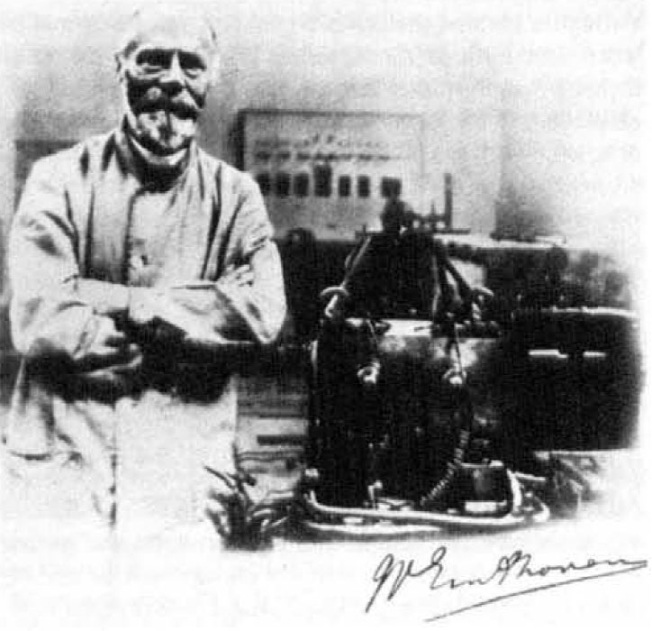 Fig. 4 William Einthoven in his laboratory in Leyden University with the original Einthoven Galvanometer Outfit. Image included by permission of John Wiley & Sons, Inc. Further usage of any Wiley content that appears on this website is strictly prohibited without permission from Wiley & Sons, Inc.