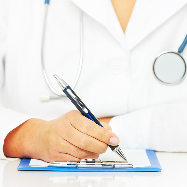 Medical Professional Signing Document; Conceptual Image
