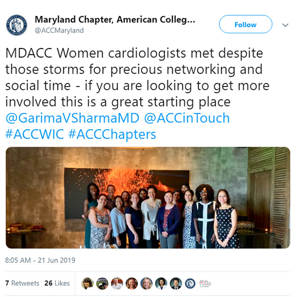 WIC ACC Maryland Chapter Tweet