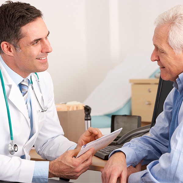 Doctor with Elderly Patient; Conceptual Image