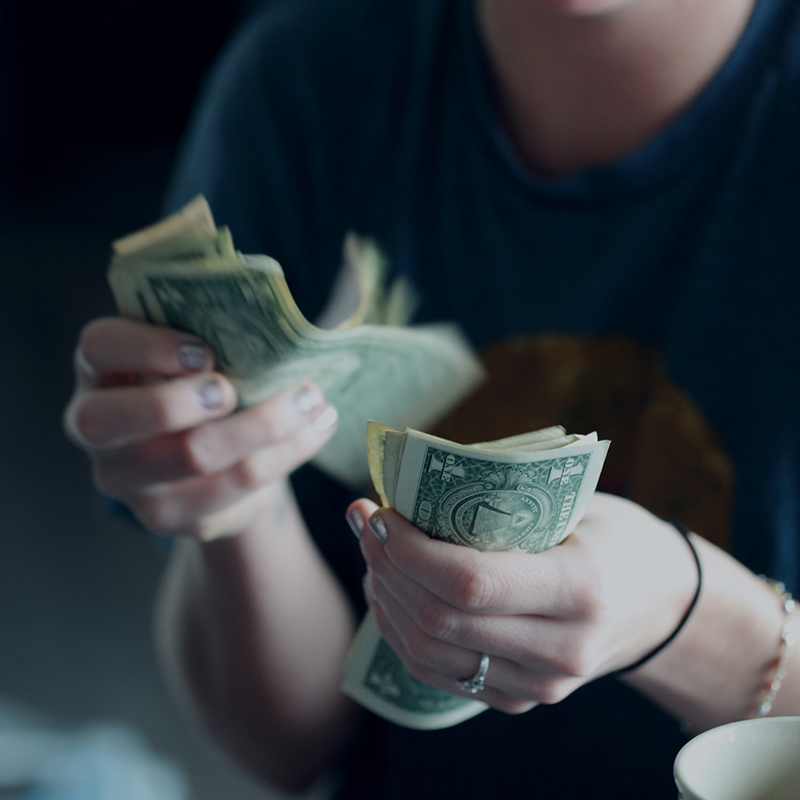 Counting Money; Conceptual Image