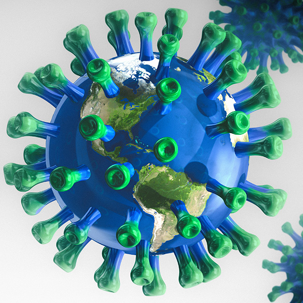 COVID-19 Global Pandemic; Conceptual Image