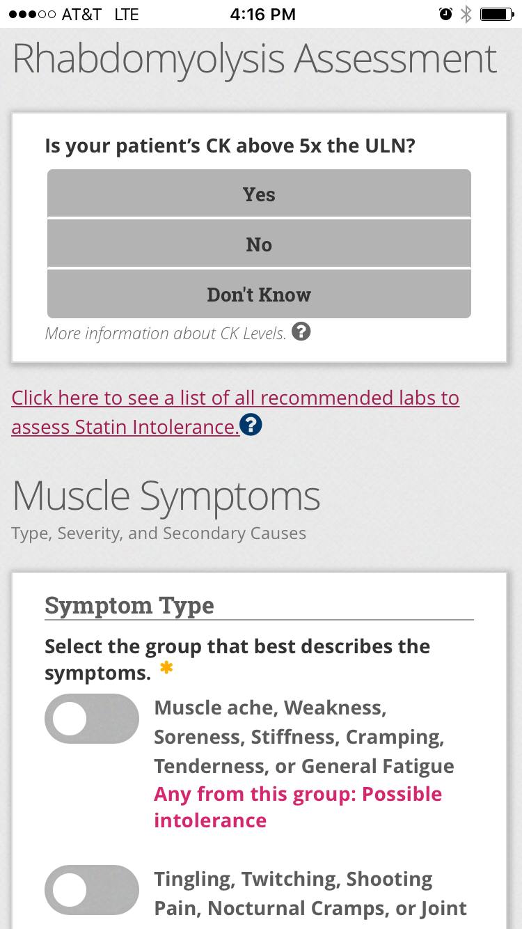 acc statin intolerance app american college of cardiology statin app